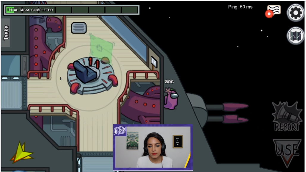 Alexandria Ocasio Cortez Raises  over $185,000 for Hungry Kids and Rent Eviction Relief while Streaming the Video Game 'Among Us' on Twitch.